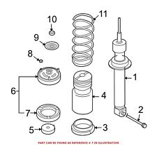 For BMW Genuine Coil Spring Insulator Rear Upper 33536753765