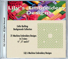 21  Celtic Machine Embroidery Designs - quilting backgrounds  in 3 sizes
