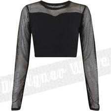 Maglie e camicie da donna in seta nera taglia S