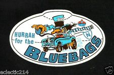 HURRAH THE BLUEBAGS Vinyl Decal Sticker AMOCO PETROL OILS NEWTOWN JETS nrl