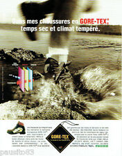 PUBLICITE ADVERTISING 125  1996  GORE-TEX  chaussures micropreuses