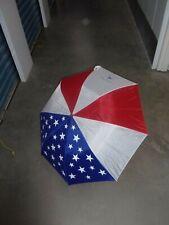 American Patriotic Flag Style Umbrella Sun Protection Disable Veterans Logo