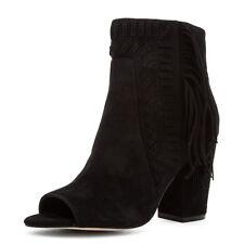 Rebecca Minkoff Iris Bootie Womens Sz 6.5 Black NIB Open Toe Suede Ankle Boot