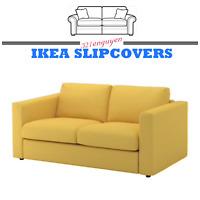 IKEA VIMLE Sofa Loveseat Section Slipcover Cover ORRSTA GOLDEN YELLOW w/ Armrest