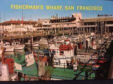 San Francisco Fishermans Wharf Vintage Post Card California