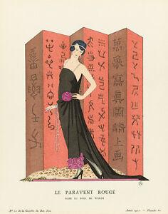 The Red Screen La Gazette du Bon Ton 1921 Art Print