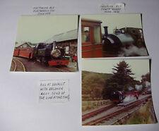 WALES270 -1972 3 x Dduallt Portmadoc Towyn Wharf FESTINIOG & TALLYLYN Railway