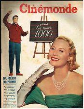 ANCIENNE REVUE CINEMONDE 1953 NUMERO 1000 JEAN MARAIS