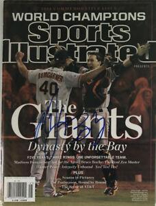 POSEY BUMGARNER Autographed Signed Sports Illustrated NL Magazine Giants 2014