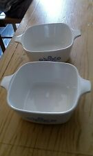 corningware cornflower blue 2 3/4 cup dishes x2