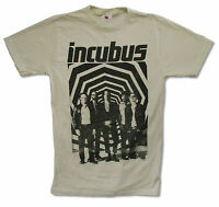 """INCUBUS """"ZONE"""" NATURAL T SHIRT NEW OFFICIAL ADULT ROCK BAND MUSIC"""