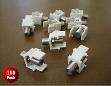 100 Pack- F type 3GHz Keystone Coax Jack Cable Insert Connector Adapter RG59 RG6