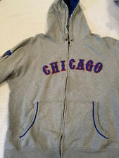 Mitchell and Ness Chicago Cubs Hoodie Gray Cooperstown Collection XL Size 48