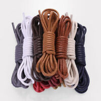 2//4PCS Waxed Round Shoe Laces Shoelace Bootlaces Leather Brogues multi color BR