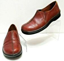 Birkenstock FOOTPRINTS Brown Split Leather COMFORT Slip On LOAFERS Womens 7.5/38