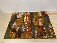 "Original Gouache Painting ""Ashen Roots"" by M Sykora | Mid-Centrury Impressionism"