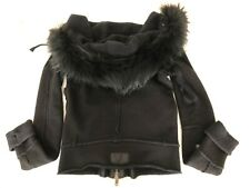 L.G.B. Raccoon Fur Coat Hoodie Black * Tg 1 / S