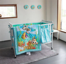 6Pcs/Set 3D Finding Nemo Fish Baby Crib Nursery Bedding Set Quilt Bumper Sheet
