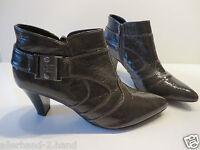 ANSEHEN # SUPREMO chice STIEFELETTEN Gr. 40 dunkelbraun Glanz Damen Schuhe Boots