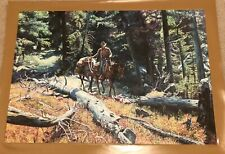 """AUTHENTIC ARTAGRAPH OIL """"PACKING INTO THE BIG HORN""""M. KUNSTLER, SIGNED 87/1000"""