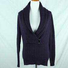 Ann Taylor Sweater Size Small Wool Angora Cashmere Blend Purple Shawl Collar