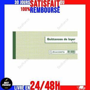 Carnet à Souche Quittance de Loyer Infalsifiable - Exacompta 42E - 50 Feuillet