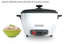 NIB Black+Decker 28-CUP RICE COOKER APPLIANCE White RC5280