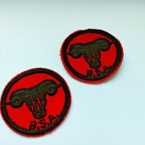 BSA Patrol Patch Red Felt Vintage Black Ram Boy Scout Round Badge Iron On New