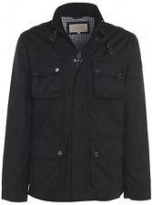 New Men's Jacket Wax Smart Coat Size S M L XL Black Trench Mac