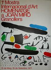 Joan MIRO Affiche originale lithographie 1971