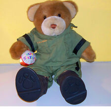 "US Army Uniform & Boots Build A Bear BABW 16"" Happy Birthday Brown Bear"