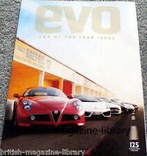 Evo Magazine Issue 125 - Car of the Year 2008