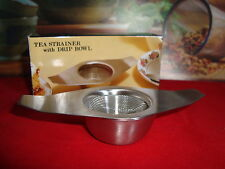 Brand New Stainless Steel Tea Strainer with Drip Bowl