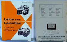 LEICA & LEICAFLEX Cameras & Accessories Catalog #41 - 1968