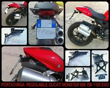 Portatarga Regolabile Ducati Monster 696 796 1100 1100EVO (+LUCE TARGA)
