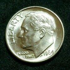 1964 P Bu Roosevelt Dime, Blast White 90% Silver, Full Bands, Choice, 10% off 5+