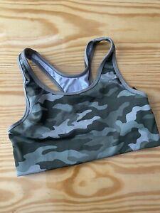 Victorias Secret PINK Ultimate SPORTs Dry Wick Yoga Gym Run Bra Sm Earthy Camo