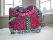 Beautiful Handmade Mayan Guatemalan Boho Festival Multicolour Flower Bag, Medium