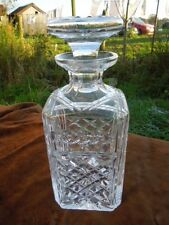 A Stylish Classic Heavy Cut Glass Decanter -  In Very Condition