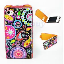 Magnetic Card Leather Pouch Phone Holder Cover Case For Apple iPhone 4 4S 4G New
