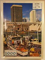 Classic Jigsaw Puzzle New Zealand Fishing Boats 1000 Piece Large Retro  49×68cm
