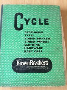 Brown Brothers Cycle Catalogue Vintage Accessories Sturmey Archer Bicycle 1950s