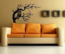 Wall Decor Vinyl Sticker Room Decal Art Tattoo Owl Bird On Branch Tree Moon #666