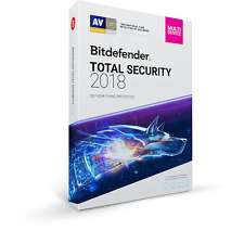 Bitdefender Total Security Multi-Device 2018 10 Users 1 Year Key 100%GENUINE