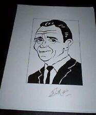 SIR JOHN MILLS, RIP Pollyanna, Tiger Bay, Sahara Signed 8.5x11 Cartoon Autograph