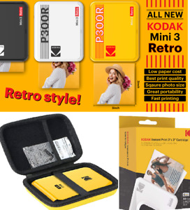 Kodak Mini 3 Retro Printer Digital Camera Real Photo Paper Sheets Bundle GIFT
