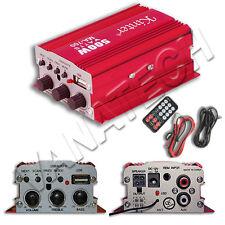 AMPLIFICATORE AUDIO PER AUTO 12V USB MP3 AUTO 2 CANALI STEREO TELECOMANDO MA700