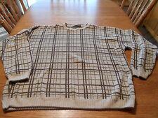 Men's sz XXL Liberty Sweaters plaid crew neck sweater