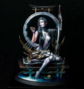 1/24 resin model kit Science fiction female robot Warrior Unassembled Unpainted