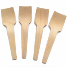 100 Wooden Birchwood Ice Cream Spoons Testers Disposable Cutlery Biodegradable